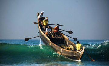 Villaggi di pescatori alle maldive